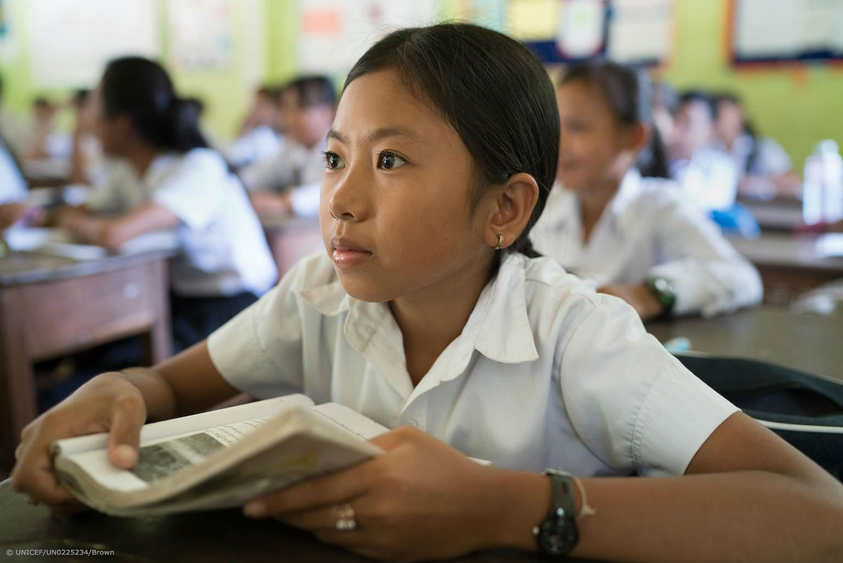Today a reader. Tomorrow a leader. We must empower girls to fulfill their potential, every day. #DayOfTheGirl