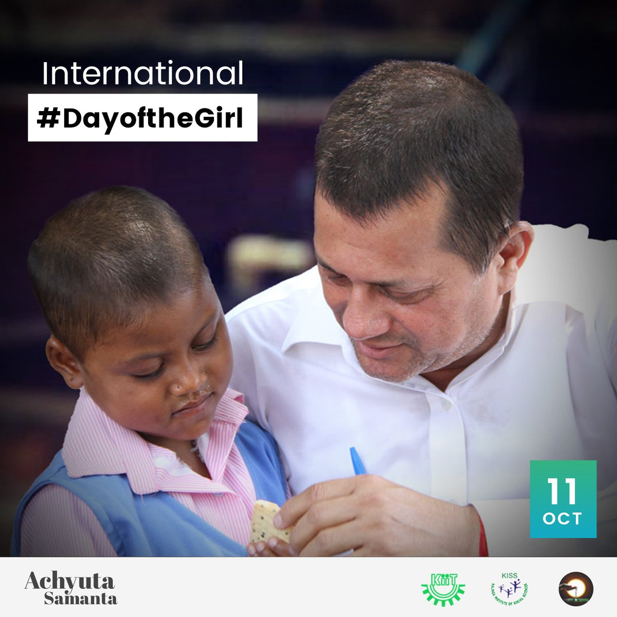 October 11th - it is the #DayoftheGirl There are 1.1 billion girls in the world, and every one of them deserves equal opportunities for a better future. They can drive change and help build a better future for all.