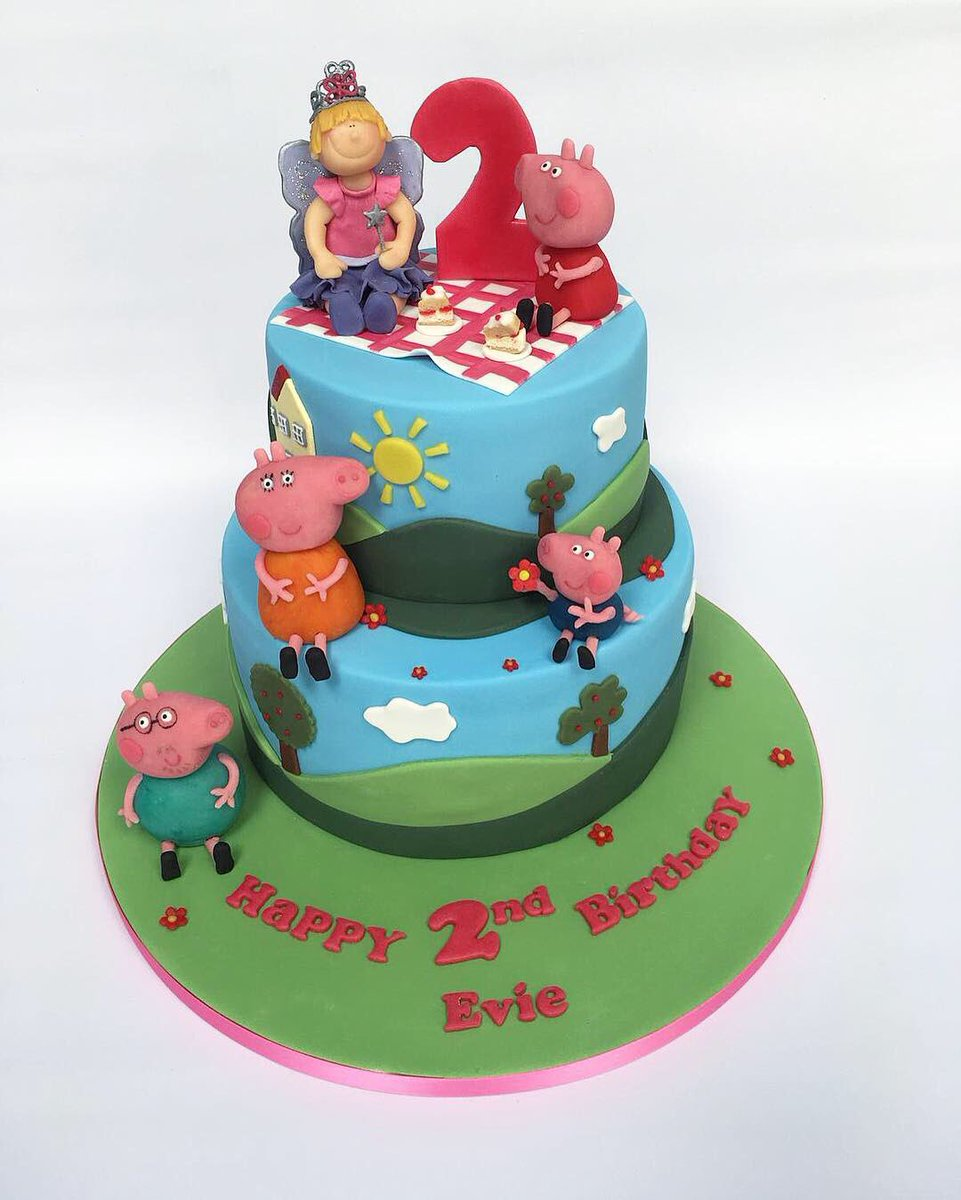 PoppyRed Cake Company On Twitter Happy 2nd Birthday Evie We Loved Making This Peppa Pig Themed PoppyRedCakeCompany B4Magazine Peppapig