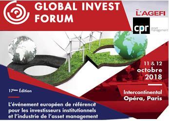 #GIFParisCPR AM met l'accent sur l'ESG au Global Invest Forum de l'@AGEFISeminaires.Aujourd\