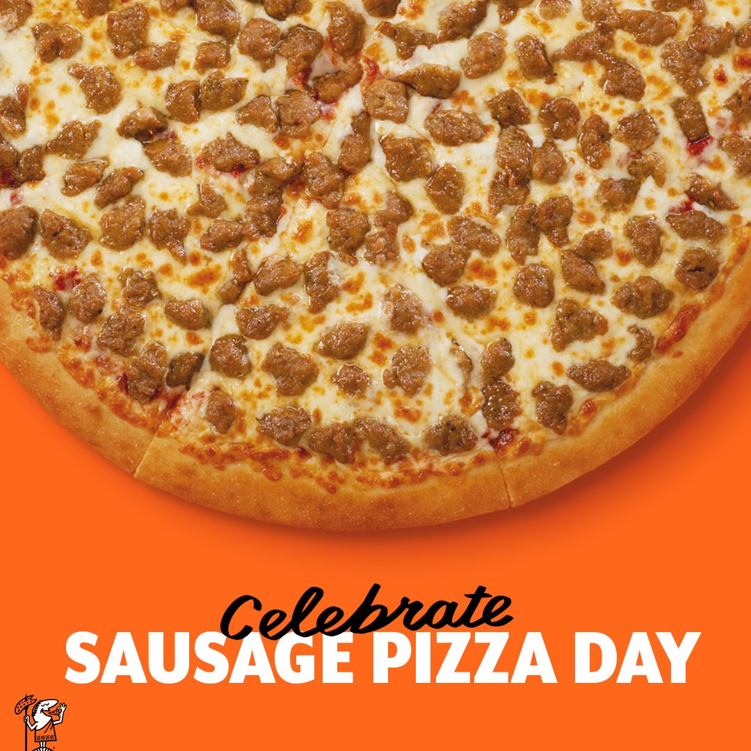Order your sausage pizza on our app and enjoy! #NationalSausagePizzaDay <br>http://pic.twitter.com/O24eB4gMZE
