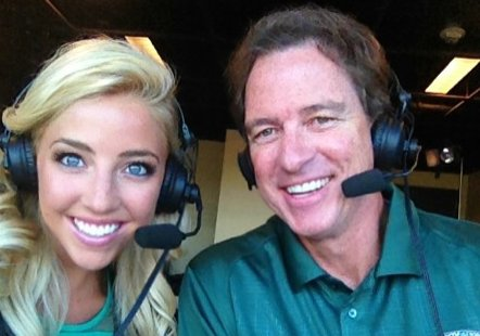 IT&#39;S A FIRST! #WestwoodOne #MNF announcer @Kevinharlan will team up with his daughter @OliviaDekker on Monday&#39;s @packers v @49ers matchup for the FIRST-EVER Father-Daughter team on a national @NFL broadcast! @kurt13warner is game analyst. 7:30 pm ET MON, @westwood1sports.<br>http://pic.twitter.com/TviX4g9ucX