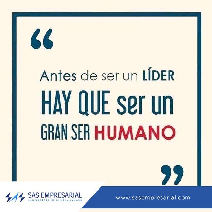 La cualidad más importante que puede tener un gran líder, es la calidad humana que demuestra a los demás #FelizJueves #MaquinadelTiempoLlevame Photo