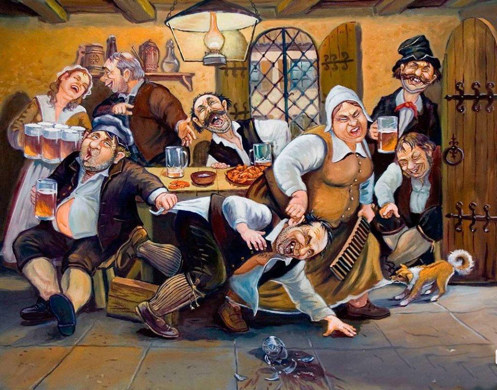 Смешные рисунки на тему пива