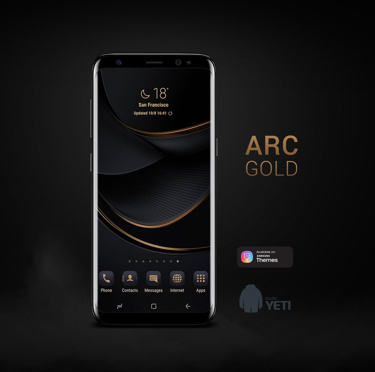 Sw Design Samsung Galaxy Themes On Twitter Sw Arc Gold Theme Available On Samsung Themes Store Link Samsung Themes Https T Co Zmeixcykhh Samsungthemes Galaxys9 Galaxys8 Wallpaper Theme Galaxys9plus Elegant Note9 Modern Samsung