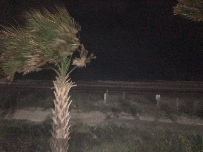 Winds are picking up as #TropicalStormMichael rolls through the Grand Strand. @AmyKawata and I will have live reports on how the city and county are prepared @wmbfnews Photo