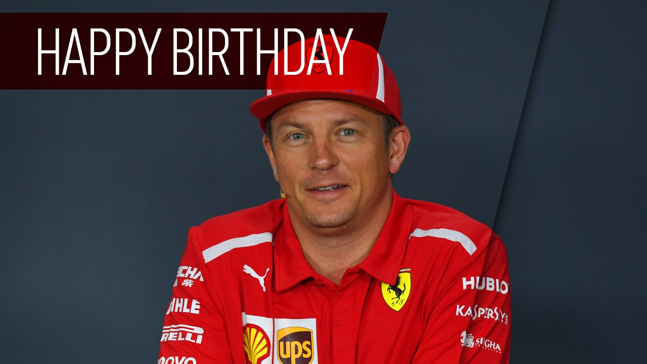 Happy birthday, Kimi Raikkonen! The driver turns 39 today