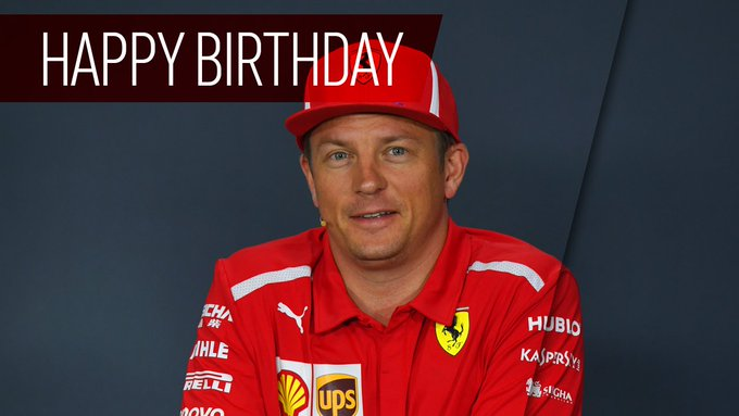 Happy birthday, Kimi Raikkonen! The driver turns 39 today