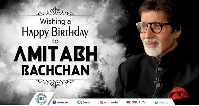 Happy Birthday to the Undisputed legend of Indian cinema, Mr. Amitabh Bachchan