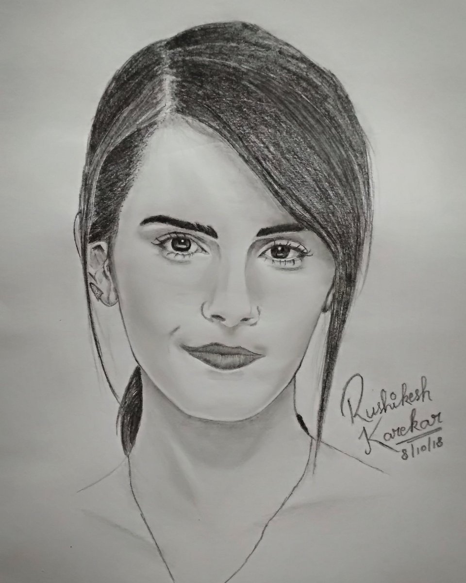 Rushikesh karekar on twitter pencil sketch of emma watson