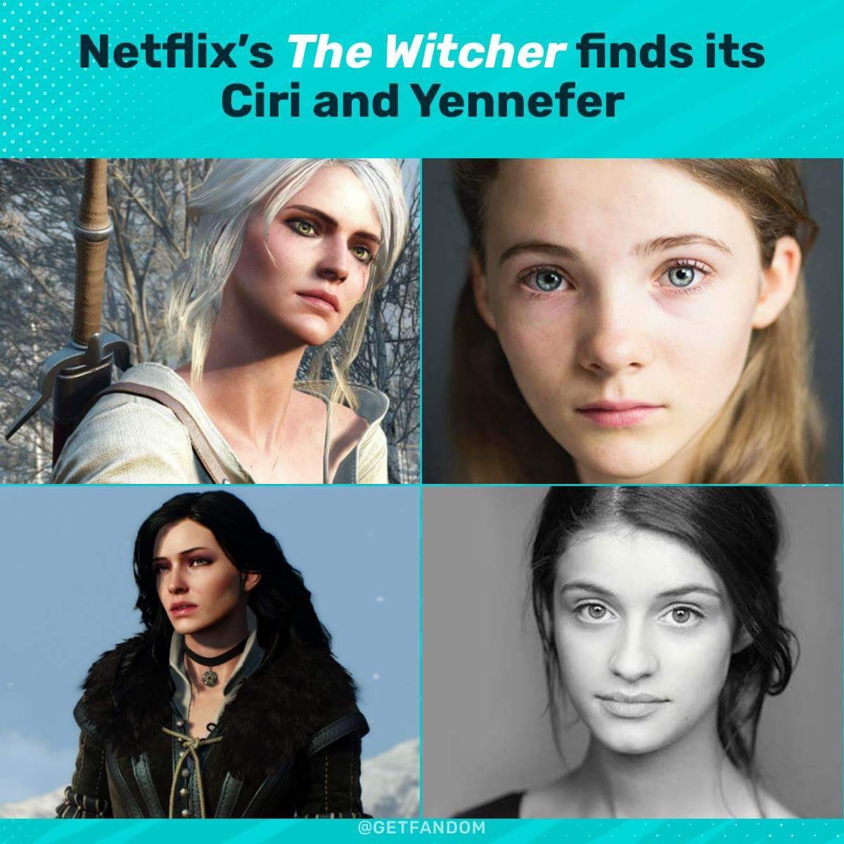 So Netflix's Witcher has found its Ciri and Yennefer! Freya Allan and Anya Chalotra. Thoughts??? #Witcher #Ciri #Yennefer<br>http://pic.twitter.com/pZ1NB0vFm1