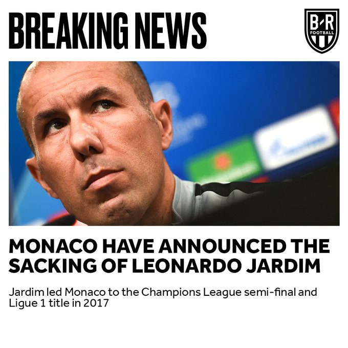 CONFIRMED: Leonardo Jardim has been sacked as Monaco manager Photo