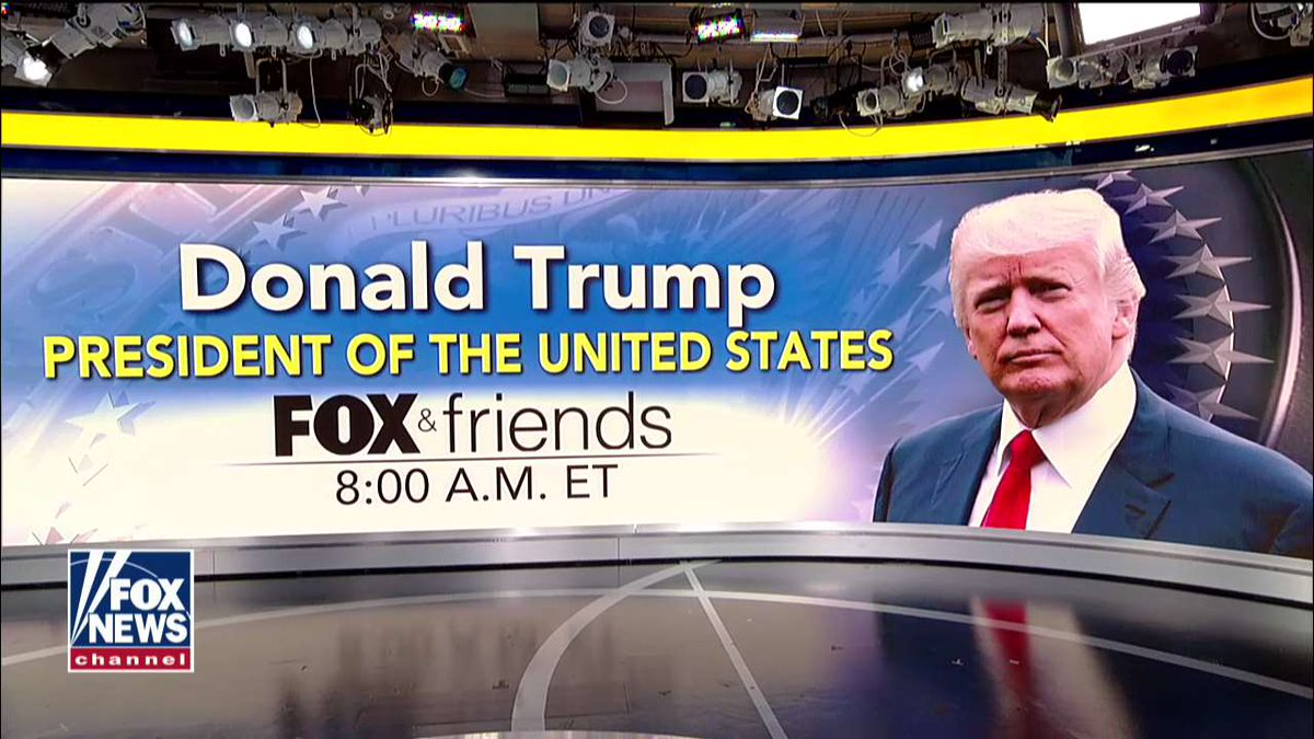 TUNE IN: @POTUS joins @foxandfriends at 8a ET this morning on Fox News Channel.