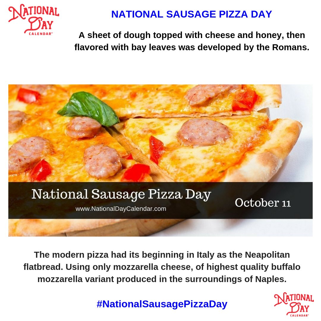 It is pizza, therefore it is good... #NationalSausagePizzaDay adds to the goodness... Be sure to get some for your family tonight!   http:// ow.ly/xUj230maelQ  &nbsp;  <br>http://pic.twitter.com/uv2qw70p6V