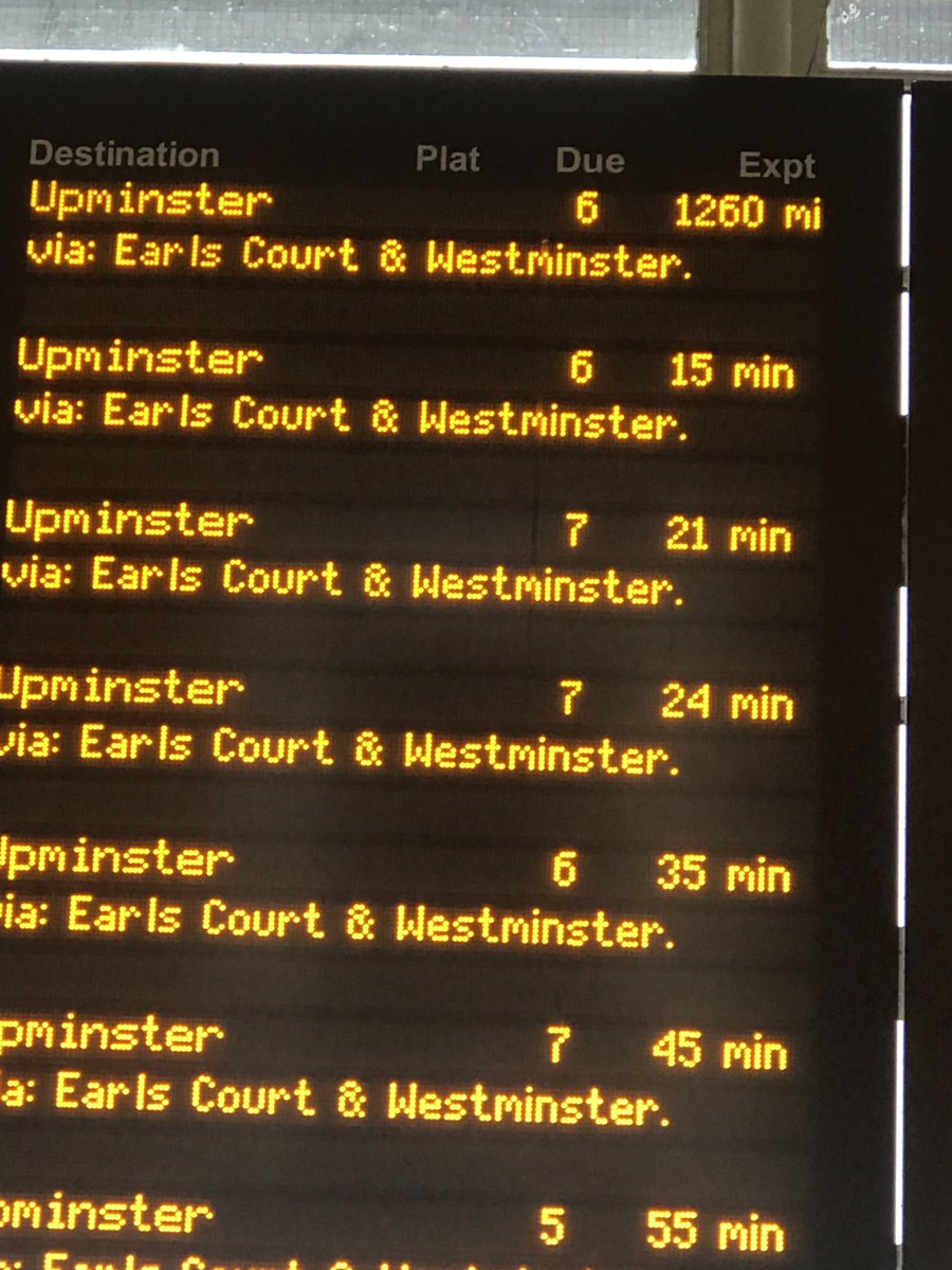 @TfL I may well read the whole of the metro waiting for this tube.