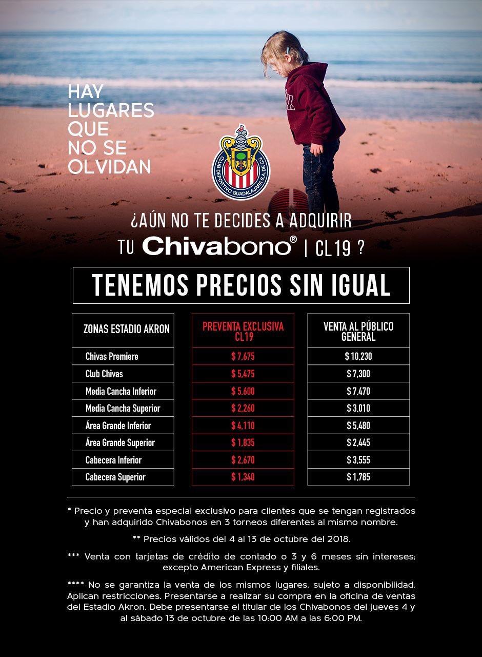 ��¡Es hora de renovar tu #Chivabono a precio especial! ��   Si tienes 3 de difentes torneos, ¡aprovecha! ���� https://t.co/EpnJNNuggz