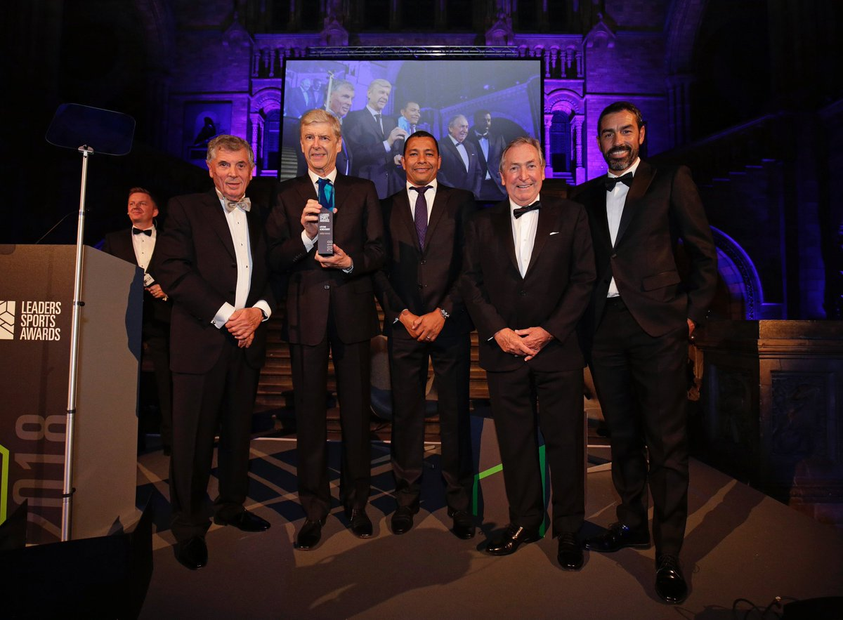 Very proud moment to be in stage with David Dein, Gerard Houllier and Robert Pires to give the Life Time Achievement Award for Arsene . The man who inspire many generations and made us Invincible. Simple , objective &amp; class  Merci Arsene .  #leadersweek #Mip #Uefa #uefamip<br>http://pic.twitter.com/TusfkKiwdp