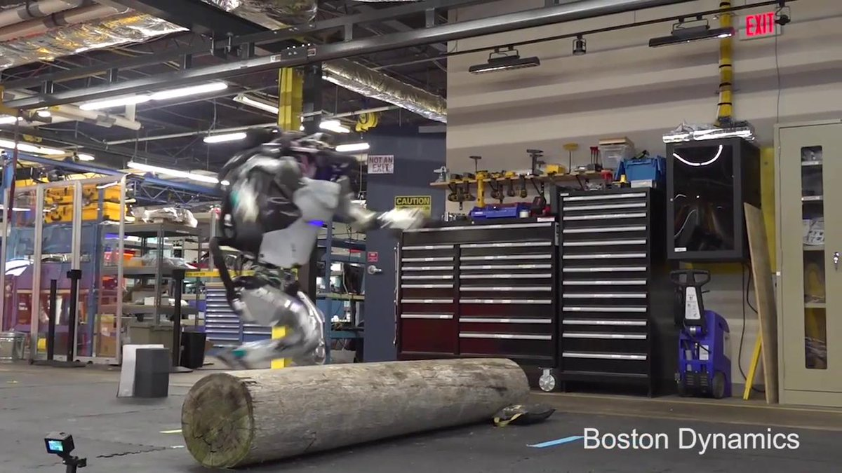 Don't look now, but @BostonDynamics' robot Atlas is back. And now it can do parkour.