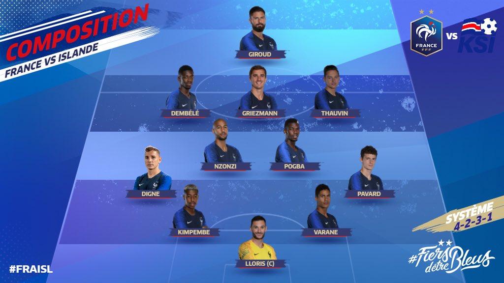 Pour sa 6e sélection en #Bleus Florian #Thauvin va honorer sa toute 1re titularisation ce soir contre l\
