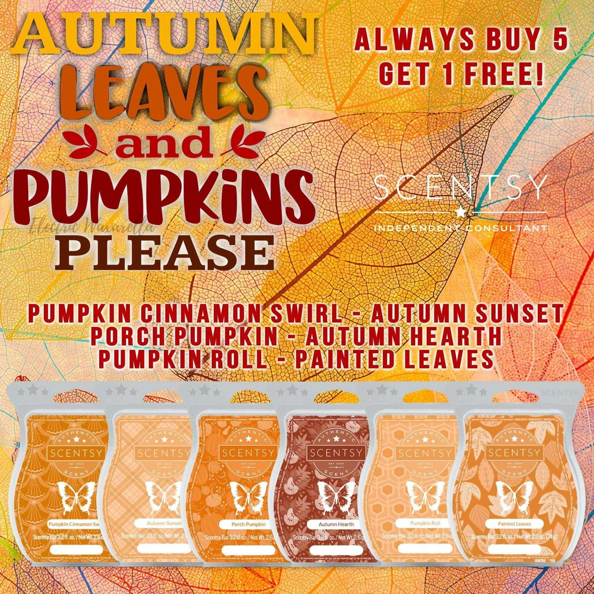 Cody Kornegay On Twitter This Autumn Leaves And Pumpkins Please Bundle Is Fall Scent Heaven All 6 Wax Bars For Only 30 Order Online Link In My Bio Scentsy Waxbundle