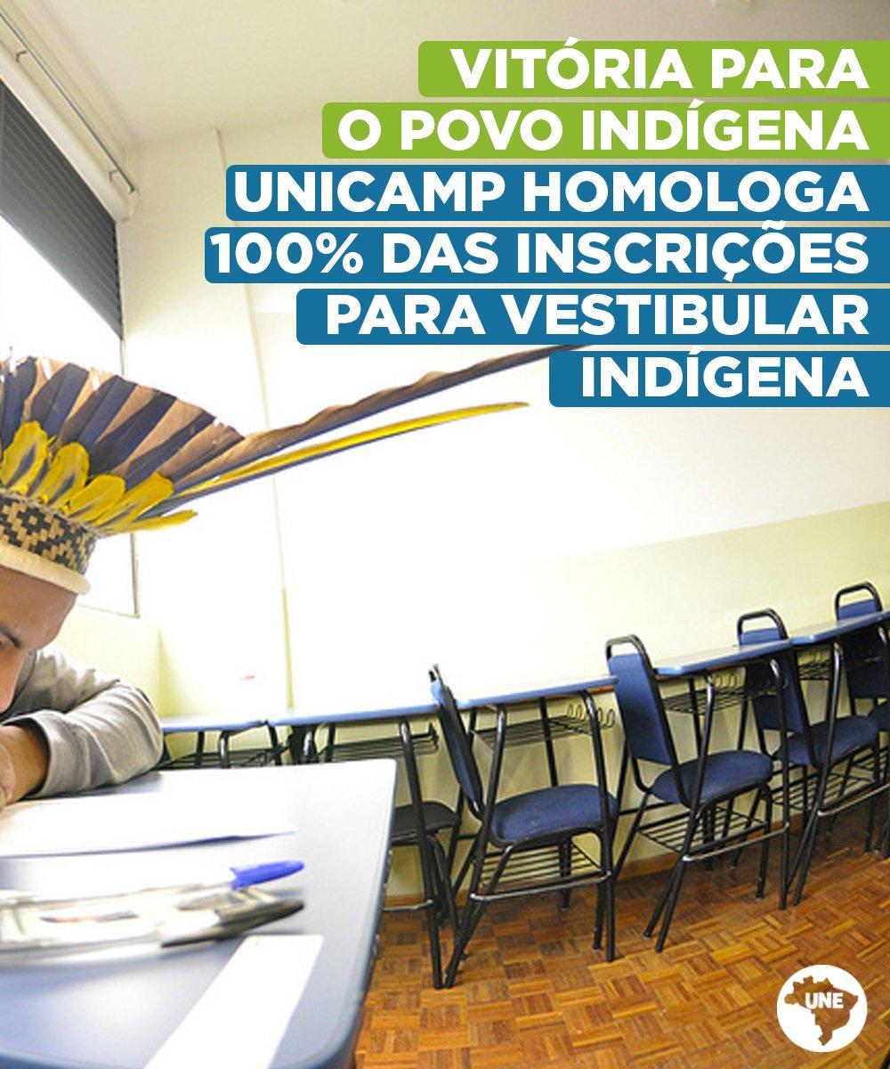 Todas as 610 inscrições recebidas para o vestibular indígena da UNICAMP foram homologadas. É com satisfação que caminhamos rumo a uma universidade mais inclusiva e diversa. Vai ter indígena na UNICAMP sim!  Leia: https://t.co/b612EjnOni