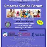 Image for the Tweet beginning: Our next Smarter Senior Forum