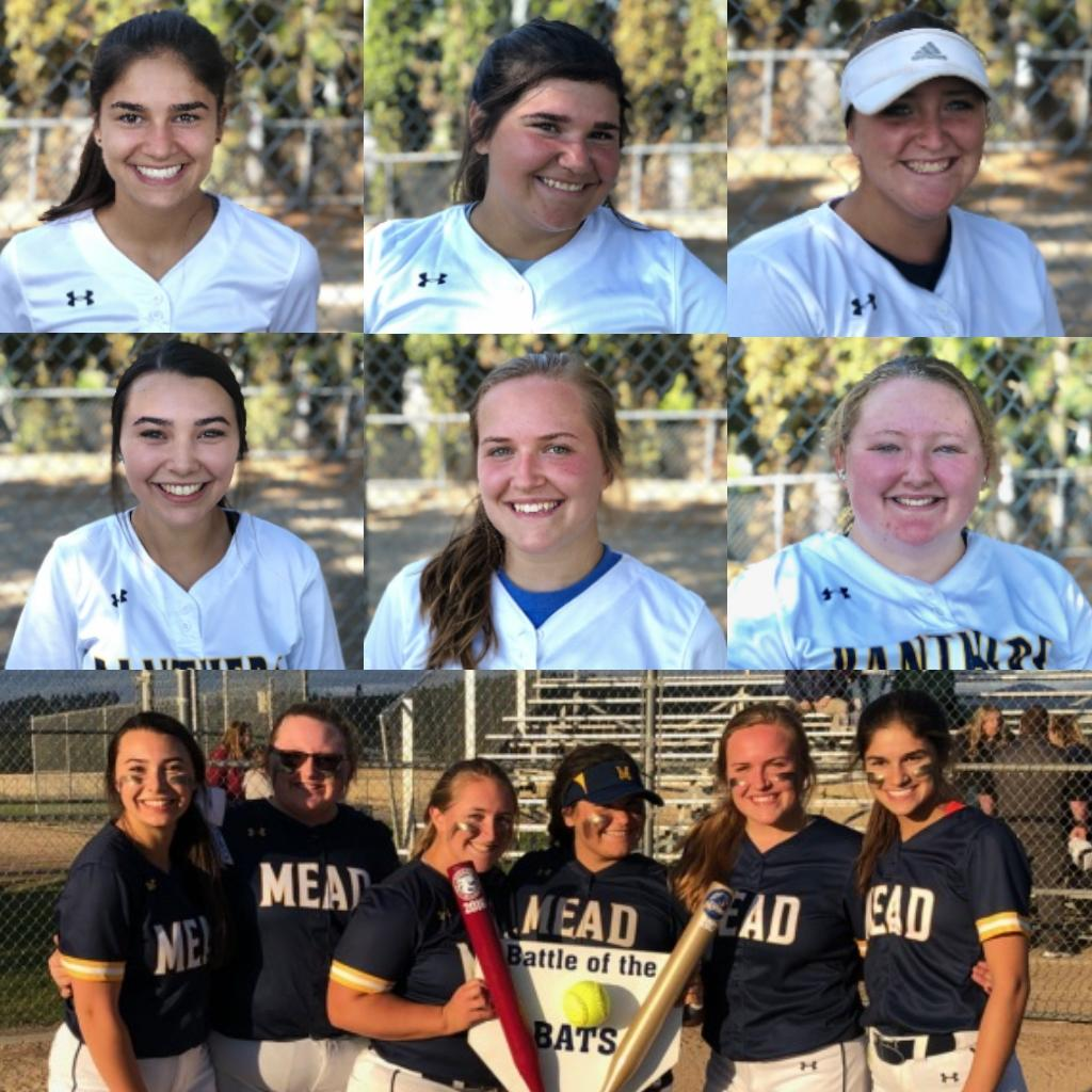 #Gameday is also #SeniorNight! Come support our 6 seniors in our double header against East Valley starting @ 3:30 @ Home! These girls have worked hard and are a huge core of who we are. We are so proud of you Emily, Sadie, Destiny, Alyssa, Zella and Amanda! #ONE @MEAD_ATHLETICS<br>http://pic.twitter.com/uAz7okJdKQ