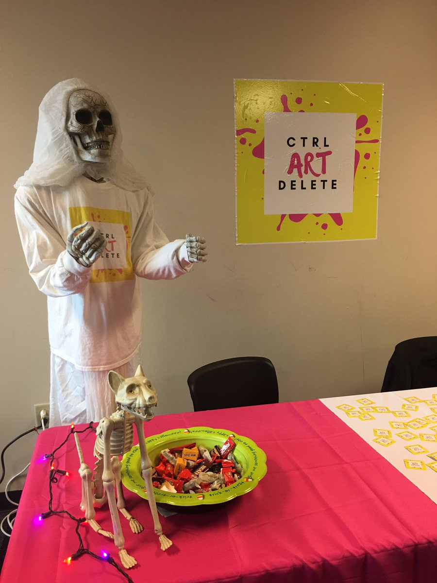 Stop by the CTRL ART DELETE  booth, get a sweet treat &amp; see the spooky decorations! #ICEIndiana @iceindiana<br>http://pic.twitter.com/GVGJsAaNo3
