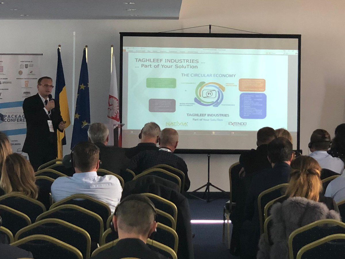 Today we are presenting EXTENDO® #highbarrierfilms, NATIVIA®#biobasedsolutions and @DerprosaFilm films for #graphicarts at the #InternationalPackagingConference in Lviv!