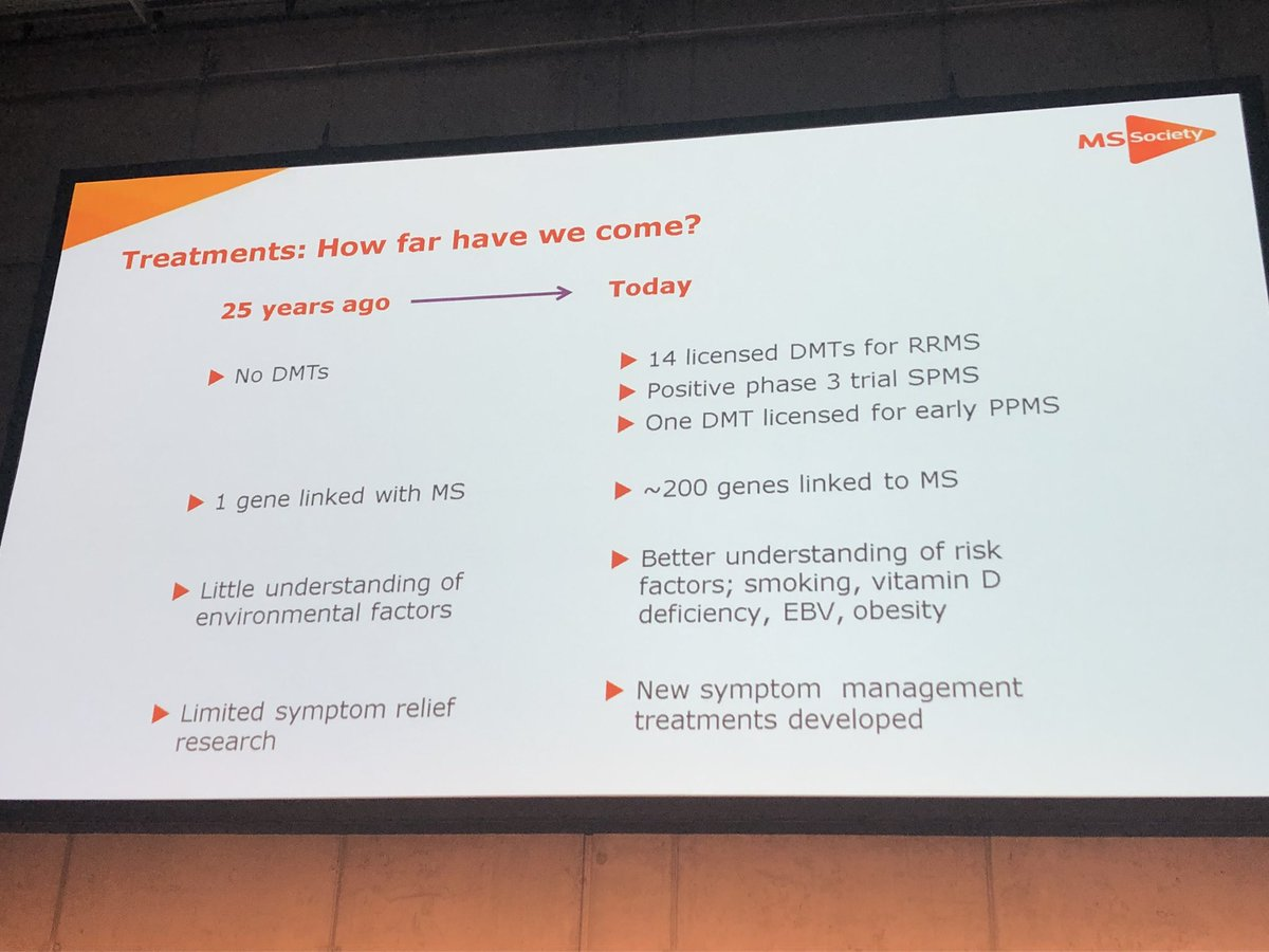 RT aoifemkirwan: Incredible to see how far knowledge of MS has progressed in the last 25 years.#ECTRIMS2018 #MSReporters<br>http://pic.twitter.com/RhcWjsFtlv