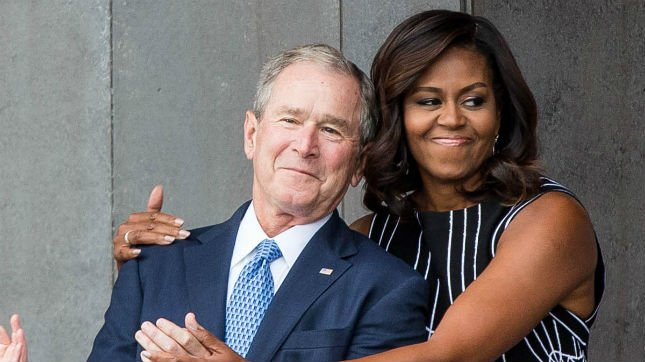 Michelle Obama: George W. Bush is my 'partner in crime' https://t.co/LpjtaZHQRB https://t.co/to2PBi9BUu