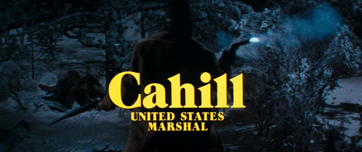 "PUNEET VIZH no Twitter: ""Enjoyed the movie ""Cahill U.S. Marshal ..."