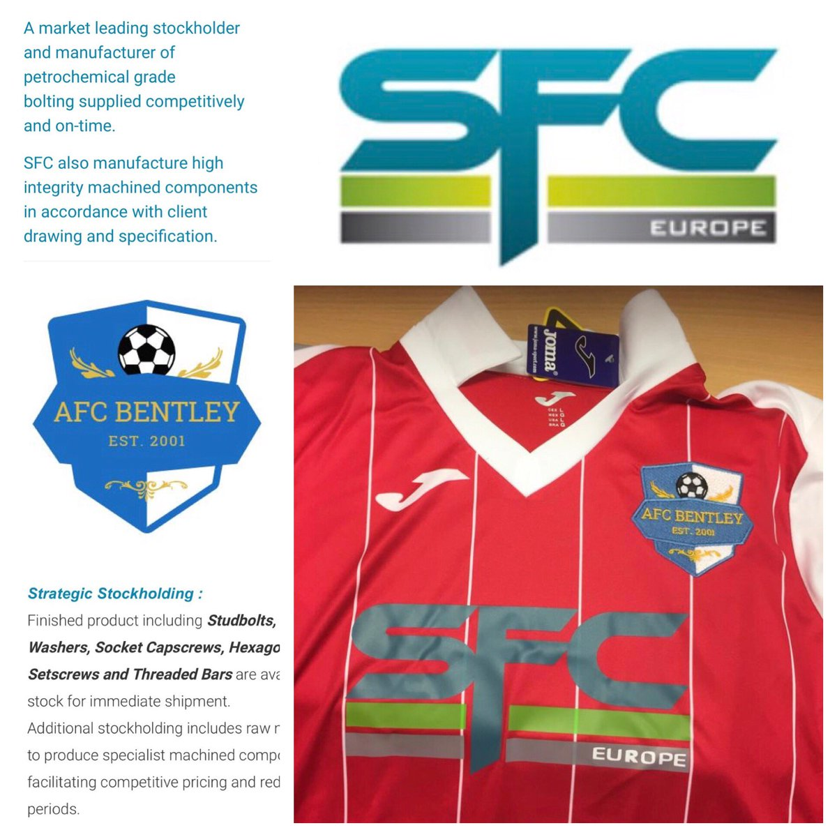 988b1f2e4 Big thank you to our new away kit sponsor  SFCLtd the market leader in  stockholder and manufacturer of petrochemical grade bolting Sfc Europe Ltd  E MAIL  ...