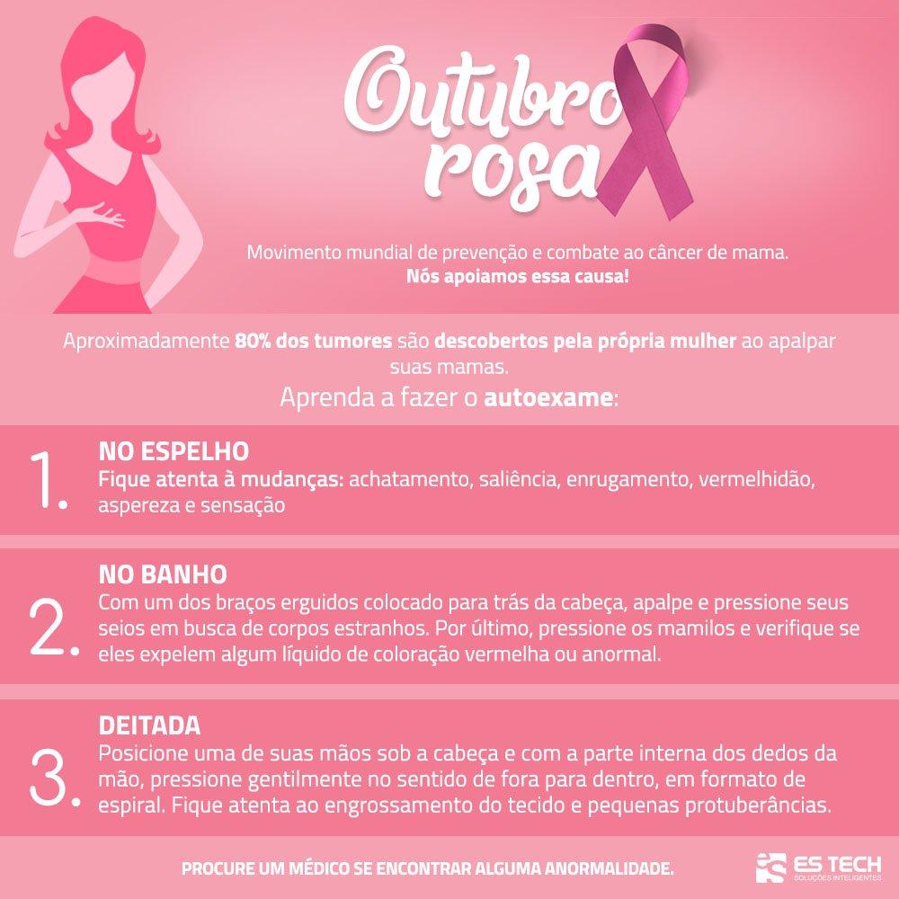 Outubro Rosa é a campanha de conscientização para alertar as mulheres sobre a importância da prevenção e do combate ao câncer de mama. Cerca de 80% dos casos são descobertos pela própria mulher e a detecção precoce é primordial para o tratamento. Faça hoje mesmo seu autoexame! https://t.co/MQOIU5f8fa