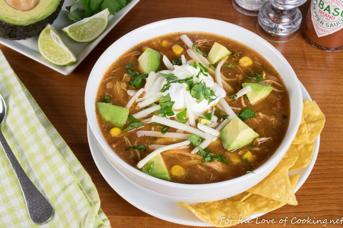 New Recipe ~ Slow-Simmered Chicken Tortilla Soup  Link: https://t.co/BI2hoiDKyD https://t.co/BCYBpGhhNN