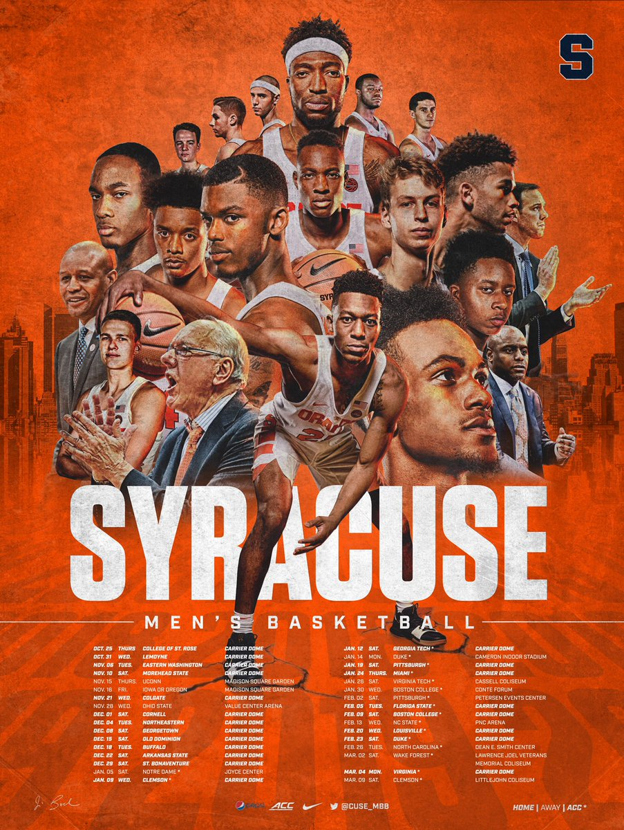 Syracuse Basketball On Twitter 2018 19 Poster Get Yours