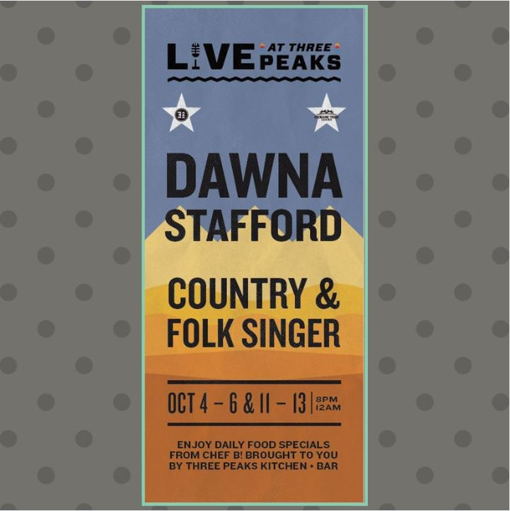 Back for Week 2 is Fit Guitar Girl #LiveAtThreePeaks! Tonight - Saturday, Dawna will take the stage from 8 p.m. &#39;til midnight. Be sure to catch her while she&#39;s still in town! #SpokaneTribeCasino #AirwayHeights <br>http://pic.twitter.com/xbItI8t4ks