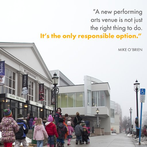 &quot;A new performing arts venue is not just the right thing to do. It's the only responsible option.&quot; - Mike O&#39;Brien LEARN MORE:  http:// bit.ly/2ISzvc5  &nbsp;   #Fredericton #playhouse2 #edchat<br>http://pic.twitter.com/Jl9O3tY4AL