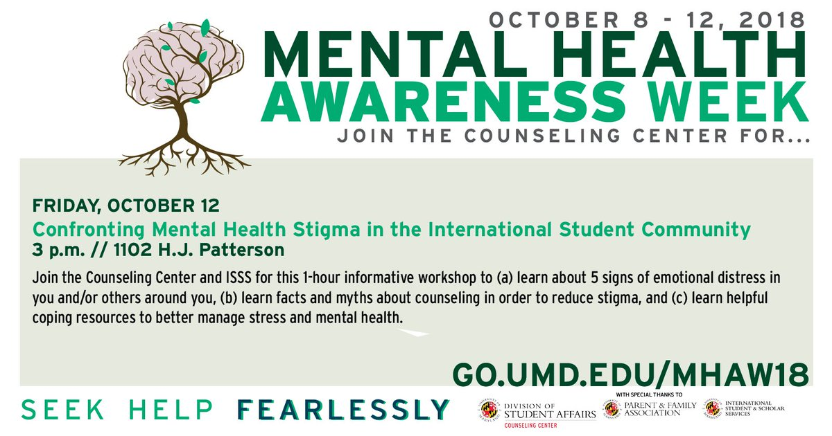 Um Counseling Center On Twitter Join Us For A Workshop On Mental