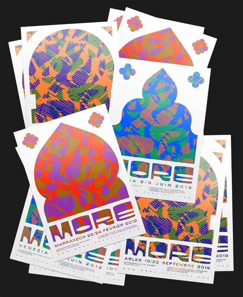 Parade on Twitter: Et bim ! Identité des 3 prochaines éditions du @MOREfestival 🤟🏼 • Arles /Venezia/Marrakech •