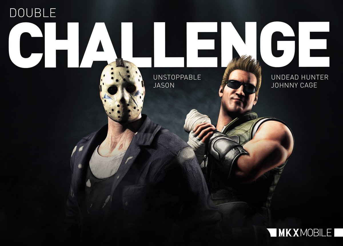 #Halloween starts early in #MKXMobile! Take on Undead Hunter #JohnnyCage and Unstoppable #JasonVoorhees in the first of three Double Challenge weeks. Can you finish them?