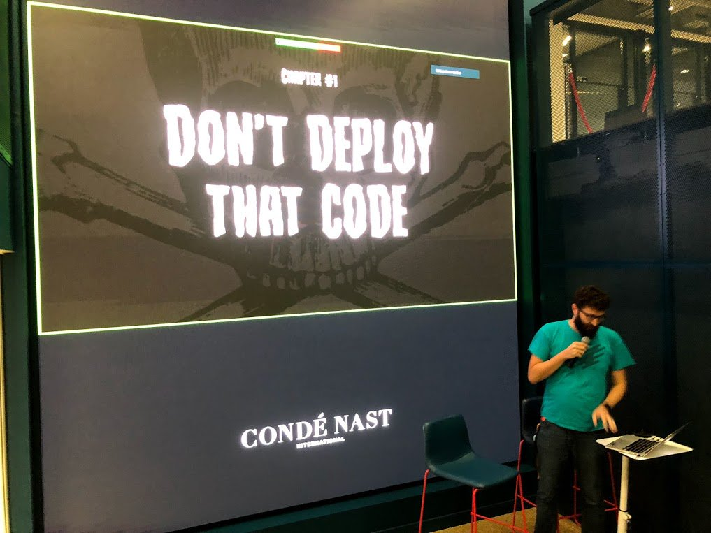 This week in Condé Nast engineering: postmortems-themed tech talks, featuring stories of things going wrong and breaking in production 🎤