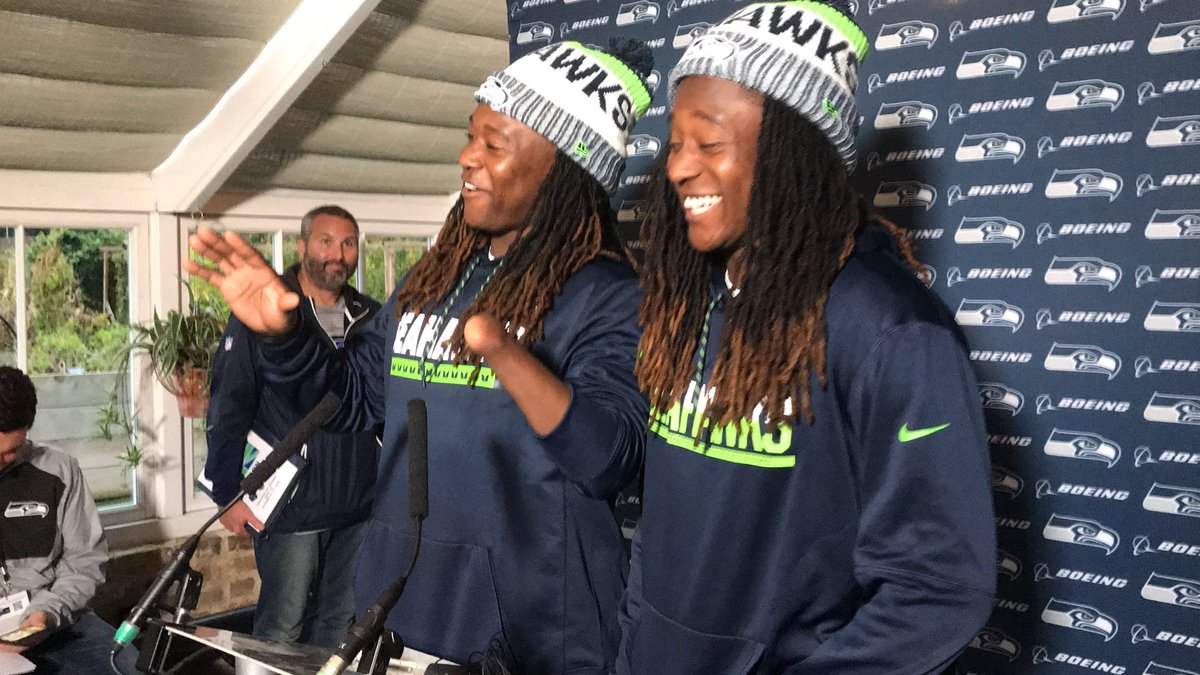 Yes, the genuine joy of Shaquem and Shaquill Griffin made the trip to London. So refreshing, real seeing their dreams coming true in the NFL as #Seahawks  teammates, roommates. @thenewstribune<br>http://pic.twitter.com/D4ZKtdOgbP