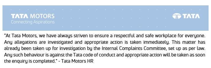 Tata Motors Statement