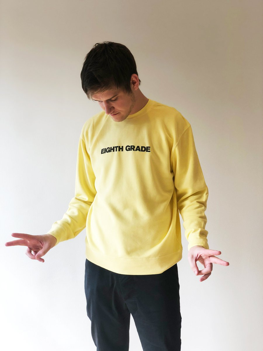 A sweatshirt for lovers of Eighth Grade and survivors of eighth grade.  Win a limited edition sweatshirt plus an #EighthGrade DVD or Blu-Ray. Enter now: http://bit.ly/Sweatshirt_Giveaway …