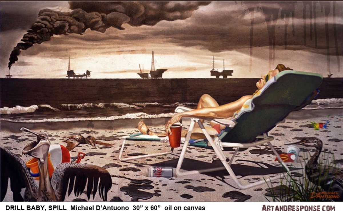 #TropicalStormMichael, like Katrina &amp; Hugo, devastated coastlines and lives yet Trump calls climate change a hoax, repeals Obama's methane restrictions and weakens fuel economy rules. Ignorance and greed won't save us- @ArtAndResponse<br>http://pic.twitter.com/if9zcZfrM0