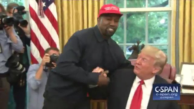 Kanye West with President Trump in Oval Office: 'I love this guy right here.' https://t.co/40Q24j5fRJ