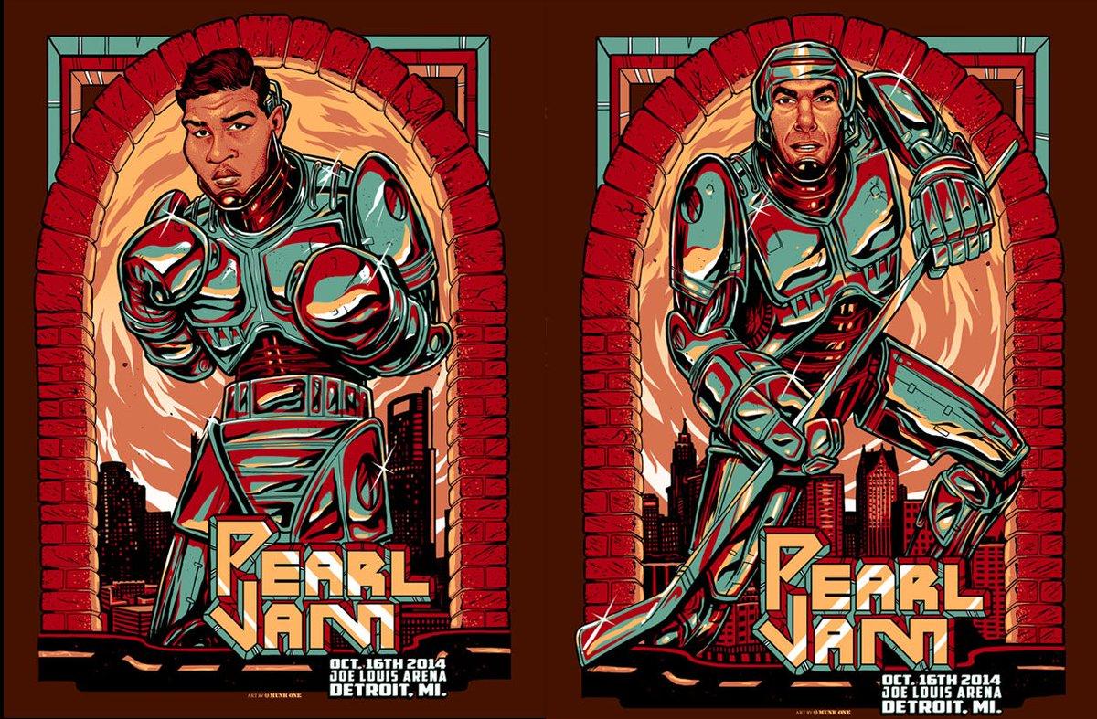 #OnThisDay in 2014, #PearlJam rocked the former Joe Louis Arena in Detroit, MI.