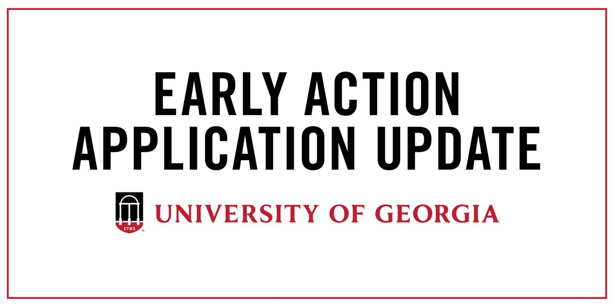 We extend our thoughts and sympathy to residents of the Florida Panhandle and Southwest Georgia. For students applying Early Action to UGA who live in these areas and have been directly impacted by Hurricane Michael, we are extending our Early Action deadline to October 22, 2018. <br>http://pic.twitter.com/oVmvaAjEXg