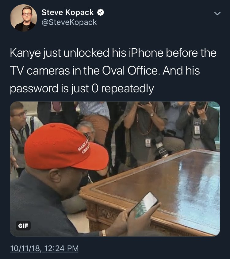Kanye West just accidentally revealed his iPhone passcode and it's so bad